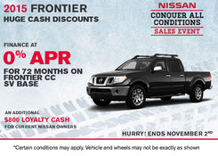 Nissan - Save on the 2015 Nissan Frontier today!