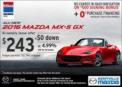 Mazda - Lease the 2016 Mazda MX-5 GX Now!