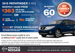 Nissan - Get the all-new 2015 Nissan Pathfinder during the sales event!
