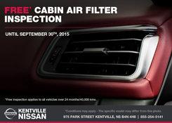 Nissan - Kentville Nissan: Free Cabin Air Filter Inspection!