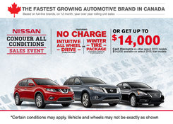Nissan - Take advantage of the Nissan's Conquer All Conditions Sales Event