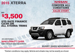Nissan - Save on 2015 Nissan Xterra today!