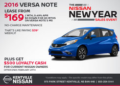 Nissan - Save on the 2016 Nissan Versa Note Now!