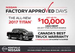Nissan - Save on the 2017 Nissan Titan Today!
