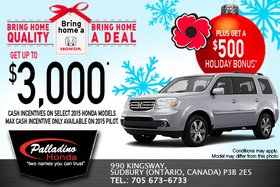 Get up to $3,000 in cash incentives today!
