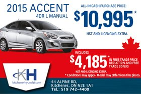 Save on the all-new 2015 Hyundai Accent today!