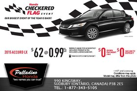 Save on an all-new 2015 Honda Accord LX today!