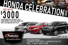 It's the Honda Celebration Sales Event!