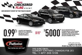 It's the Honda Checkered Flag Event!