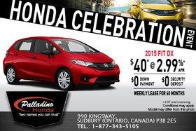 Celebrate Honda with a brand-new 2015 Honda Fit!