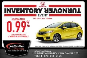 Honda's Inventory Turnover: 2015 Honda Fit!