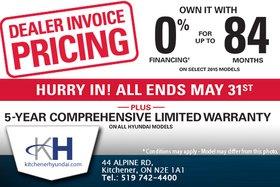 You Pay the Invoice Price at Kitchener Hyundai!