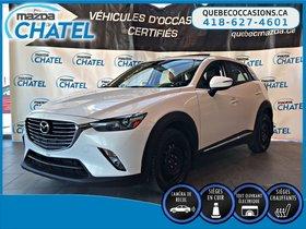 Mazda CX-3 GT AWD - CUIR - TOIT OUVRANT - SIEGES CHAUFFANTS 2016 **GARANTIE PROLONGÉE MAZDA JUSQU'EN NOVEMBRE 2020 / KM ILLIMITÉ**
