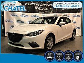 Mazda Mazda3 Sport GX - CAMÉRA - CRUISE - BLUETOOTH 2016 **GARANTIE COMPLETE MAZDA JUSQU'EN JANVIER 2019**