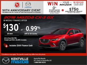 Mazda - Get the 2018 Mazda CX-3 Today!