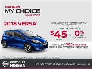 Nissan - 2018 Nissan Versa Note