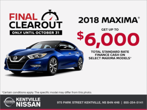 Nissan - Get the 2018 Nissan Maxima Today!