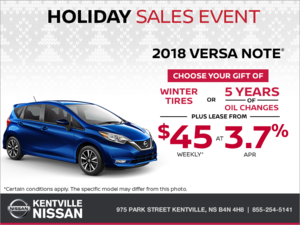 Nissan - Get the 2018 Versa Note Today!