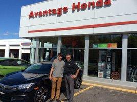 Un service à la clientèle parfait de Avantage Honda à Shawinigan