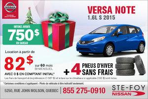 Le nouvelle Nissan Versa Note 2015 en location à 82$ bi-mensuel