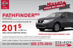 Location du Nissan Pathfinder 2015 en location à partir de 201$ en bimensualité