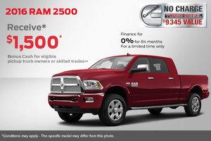 2016 Ram 2500 - Get a Cash Bonus of $1,500!