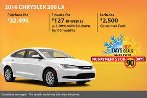 Get the 2016 Chrysler 200 LX sedan for only $22,495