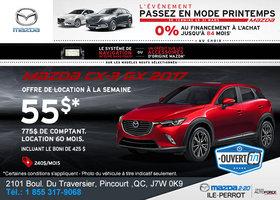 Obtenez la nouvelle Mazda CX-3 2017!