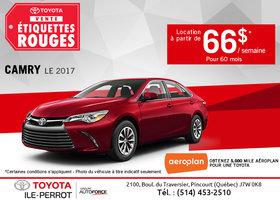 Louez le Toyota Camry 2017 dès maintenant!