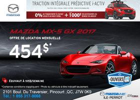 La toute nouvelle Mazda MX-5 GX 2017