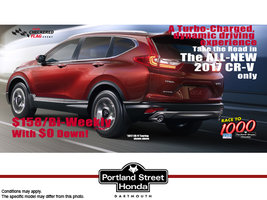 A Turbo-Charged CR-V for only $158 bi-weekly with NO money down!!