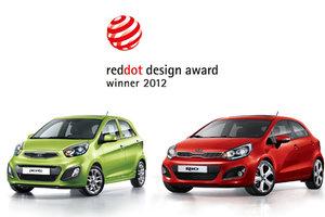 La Kia Rio et l'européenne Picanto de Kia reçoivent le prix du design Red Dot 2012