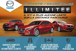 Une garantie de kilométrage illimitée chez Mazda