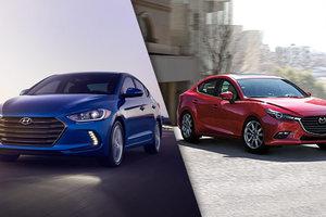 2018 Hyundai Elantra vs 2018 Mazda3 in Lachine