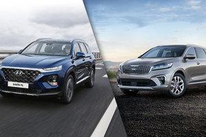 Hyundai Santa Fe 2019 vs Kia Sorento 2019 à Montréal