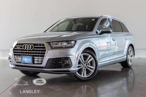 2017 Audi Q7 3.0T TECHNIK - ACCIDENT FREE, S-LINE, LUXURY PKG, DRIVER ASSISTANCE PLUS PKG, MASSAGE SEATS