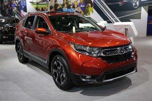 The 2017 Honda CR-V showcased at the Montreal Auto Show