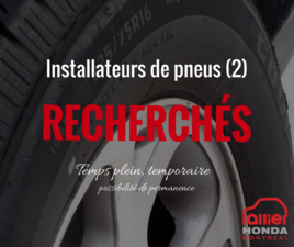 Installateurs de pneus d'expérience