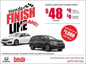Fundy Honda Finish Line Event!