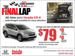 Drive Home the 2017 Honda CR-V Today!