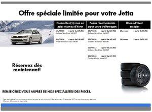 Promotion  spéciale pneus d'hiver pour votre Jetta