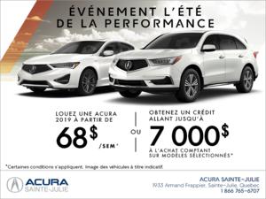 Événement l'été de la performance d'Acura