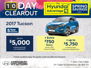Get the 2017 Tucson today!