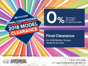 Hyundai Final Countdown - 2018 Model Clearance!