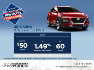 Lease the 2018 Kona!