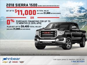 Finance the 2018 Sierra 1500!