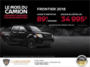 Promotion(id=68397, promotionDepartment=com.sm360.website.clientapi.dto.promotion.PromotionDepartment@e1781, imgUrlFr=null, imgUrlEn=null, imgUrl=/generator/portail-lami-junior-20/201811/2018-12-obtenez-le-nissan-frontier-2018-des-aujourdhui-5e58e63e.png, imgUrl2Fr=null, imgUrl2En=null, imgUrl2=, descFr=null, descEn=null, desc=<p>Louez un <strong>Nissan Frontier 2018</strong> à partir de 387$ par mois c'est comme payer <strong>89$ par semaine</strong> pour 24 mois avec 2 995 $ d'acompte.<br /> Sur le Frontier Édition Minuit, valeur au détail de 34 995$<br /> Certaines conditions s'appliquent. L'offre prend fin le <strong>2 janvier 2019</strong>.<br /> Faites vite et planifiez votre essai routier dès maintenant!</p> , titleFr=null, titleEn=null, title=Obtenez le Nissan Frontier 2018 dès aujourd'hui!, url1Fr=null, url1En=null, url1=/fr/formulaire/neuf/demande-d-essai-routier/3?trimId=8575&carId=2675&desired_make=Nissan&desired_model=Frontier&desired=catalog&desired_year=2018&desired_trim=S, url2Fr=null, url2En=null, url2=/fr/formulaire/neuf/demande-de-prix/1?trimId=8575&carId=2675&desired_make=Nissan&desired_model=Frontier&desired=catalog&desired_year=2018&desired_trim=S, url1TitleFr=null, url1TitleEn=null, url1Title=Demande d'essai routier, url2TitleFr=null, url2TitleEn=null, url2Title=Demandez votre prix, startDate=Thu Nov 29 19:00:00 EST 2018, endDate=Tue Jan 01 19:00:00 EST 2019, active=false, archived=false, availableFr=false, availableEn=false, promotionZoneOnly=true, fallback=false, shareable=false, automatic=false, priority=5, makeId=2, modelId=null, year=null, trimId=null, lastModifiedDate=Sun Dec 02 07:24:30 EST 2018, creationDate=null, promotionZoneIds=null, websiteIds=null, organizationUnitIds=null, youtubeIds={}, youtubeId=, smallPrints={}, smallPrint=null, paymentInfo=null, seoSlugUrlEn=null, seoSlugUrlFr=null, seoSlugUrl=obtenez-le-nissan-frontier-2018-des-aujourdhui, imgUrl3Fr=null, imgUrl3En=null, imgUrl3=)