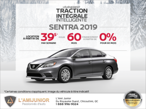 Obtenez le Nissan Sentra 2019 dès aujourd'hui!