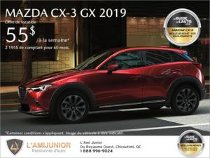 Procurez-vous la Mazda CX-3 2019!
