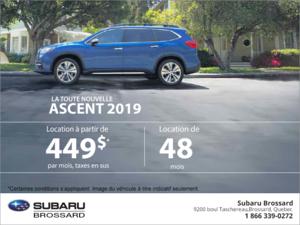 Louez la nouvelle Ascent 2019!
